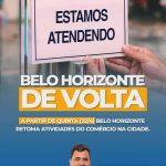 Belo Horizonte retoma atividades do comércio