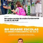 BH reabre escolas do ensino fundamental no dia 21
