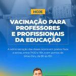 Vacinação para professores e profissionais da educação