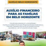 Auxilio financeiro para as famílias em Belo Horizonte