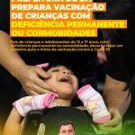 PREFEITURA DE BH PREPARA VACINAÇÃO DE CRIANÇAS COM DEFICIÊNCIA PERMANENTE OU CORMOBIDADES