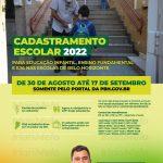 Cadastramento Escolar de 2022 em Belo Horizonte