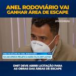 ANEL RODOVIÁRIO VAI GANHAR UMA ÁREA DE ESCAPE