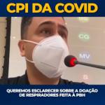 Queremos esclarecer sobre a doação de respiradores feita à PBH