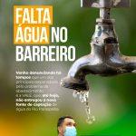 FALTA ÁGUA NO BARREIRO